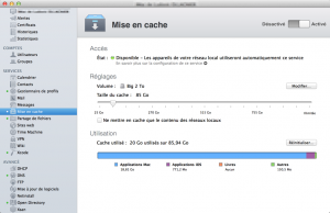 Caching Server pour Mavericks